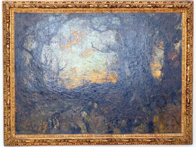 Fritz Baer: Abend im Walde, um 1914