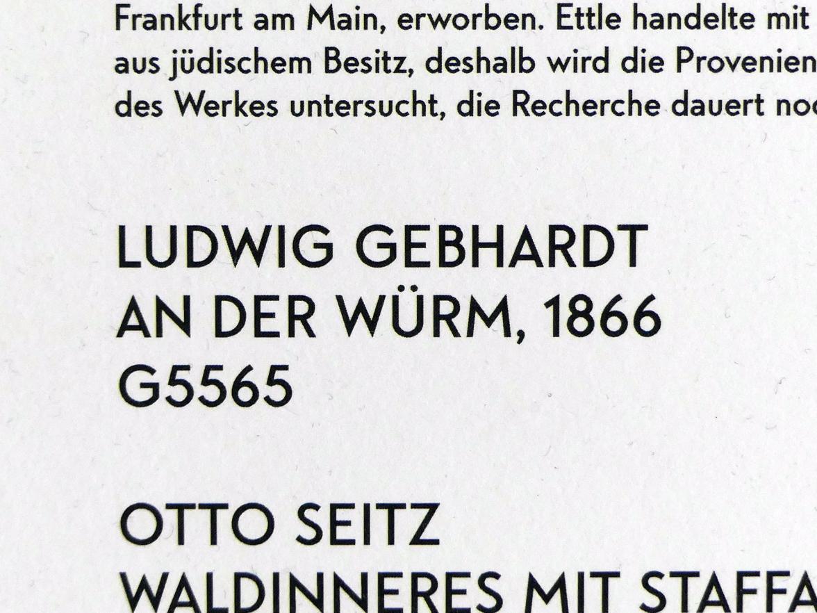 Ludwig Gebhardt: An der Würm, 1866, Bild 2/2