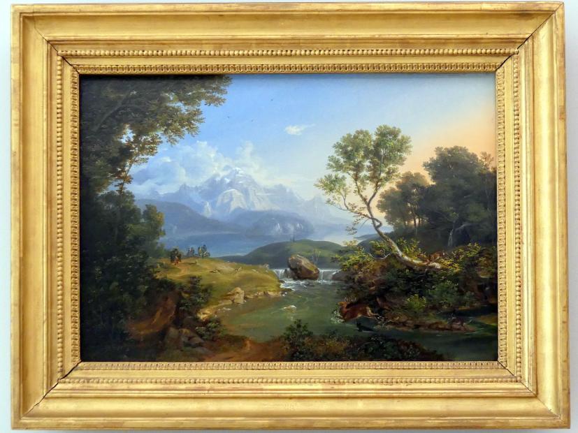 Carl Rottmann: Hirschjagd am Hintersee bei Berchtesgaden, 1823