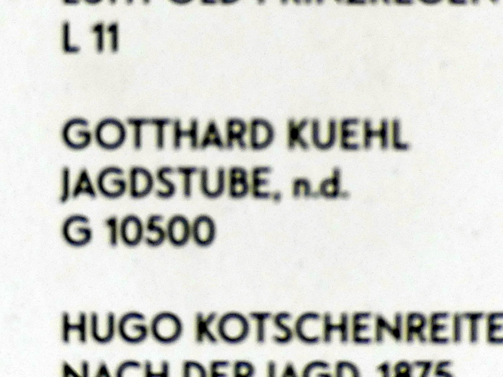 Gotthardt Kuehl: Jagdstube, Undatiert, Bild 2/2