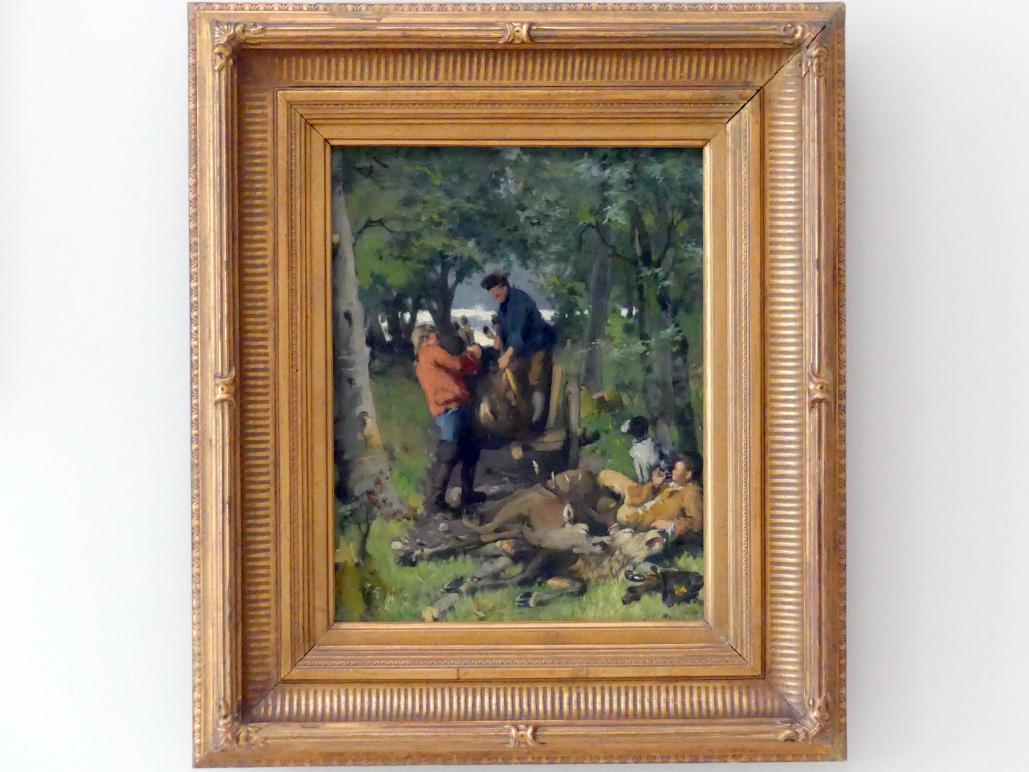Hugo Kotschenreiter: Nach der Jagd, 1875