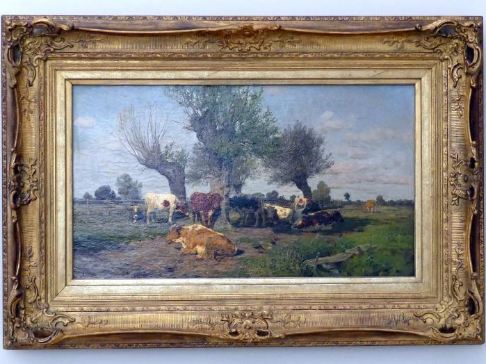 Hermann Baisch: Landschaft mit Viehherde, 1880