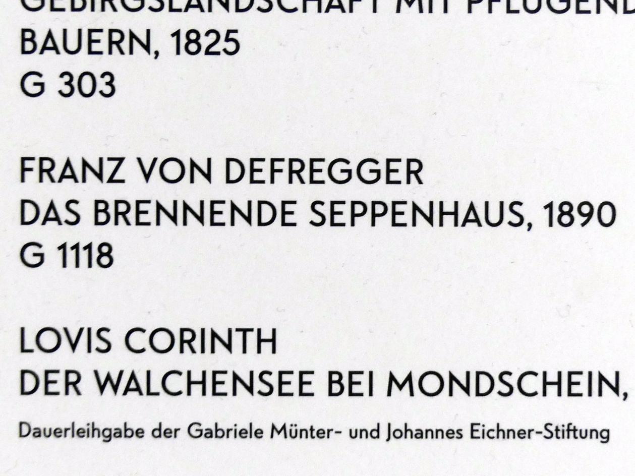 Franz von Defregger: Das brennende Seppenhaus, 1890, Bild 2/2