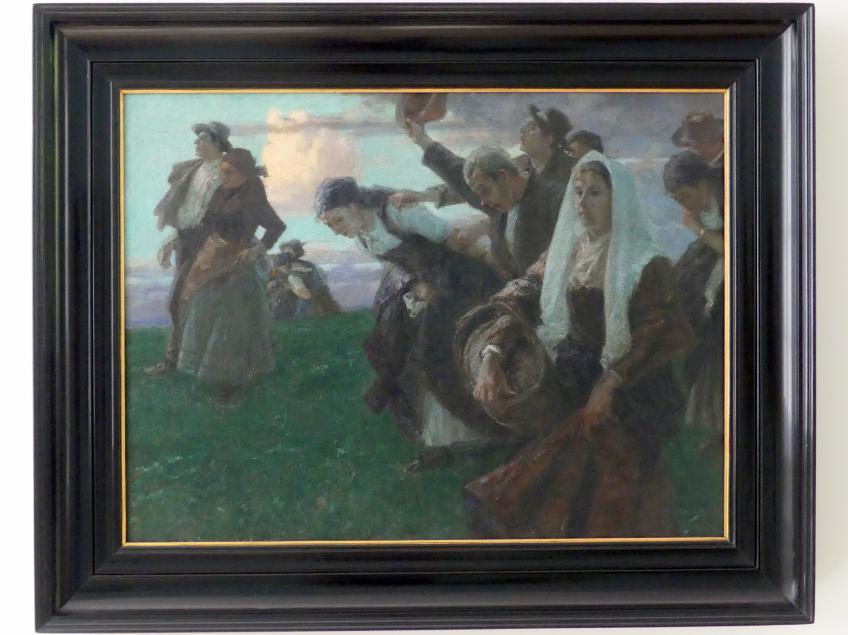 Arthur Langhammer: Heimkehr von der Kirchweih, um 1895