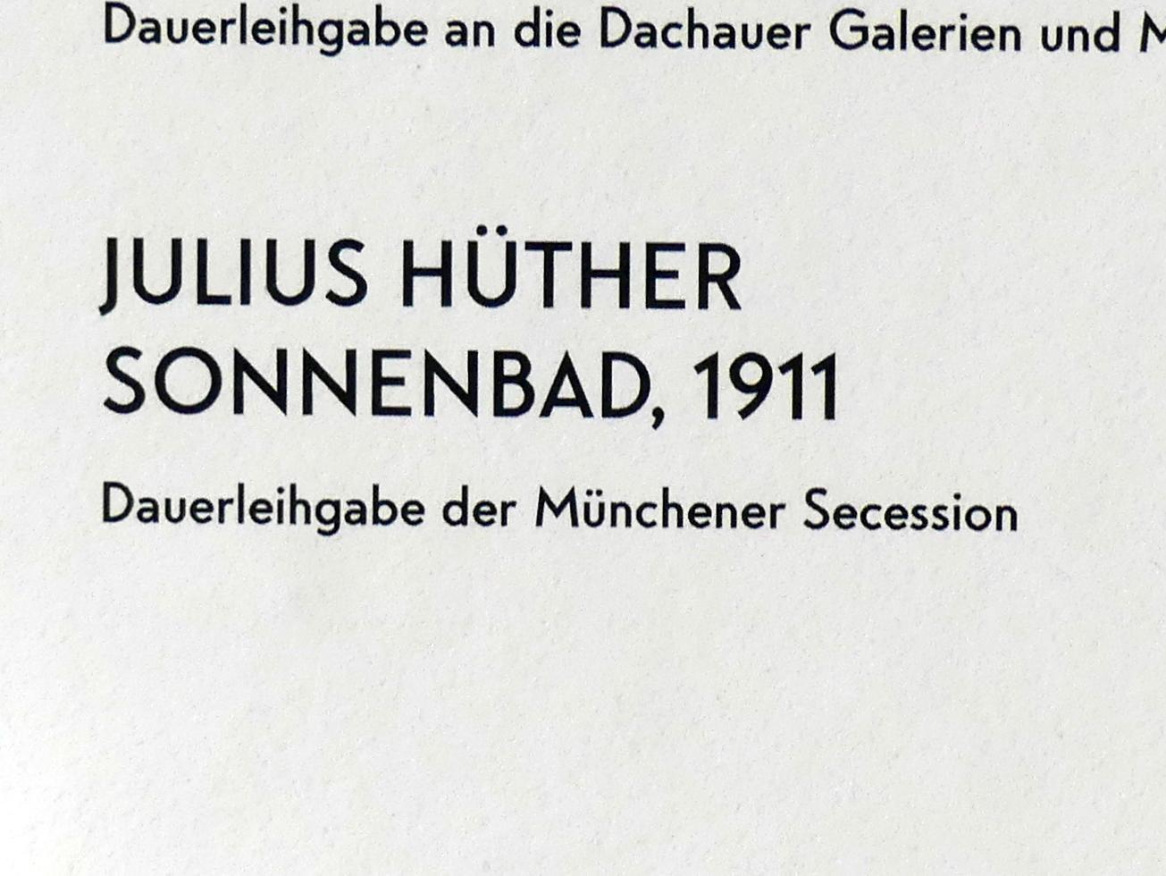 Julius Hüther: Sonnenbad, 1911, Bild 2/2
