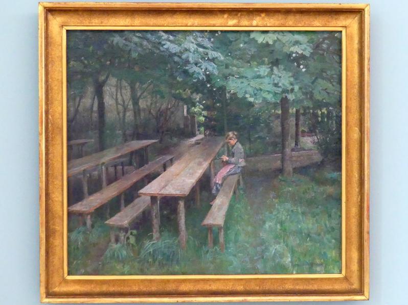 Thomas Theodor Heine: Wirtsgarten in Dachau, 1890