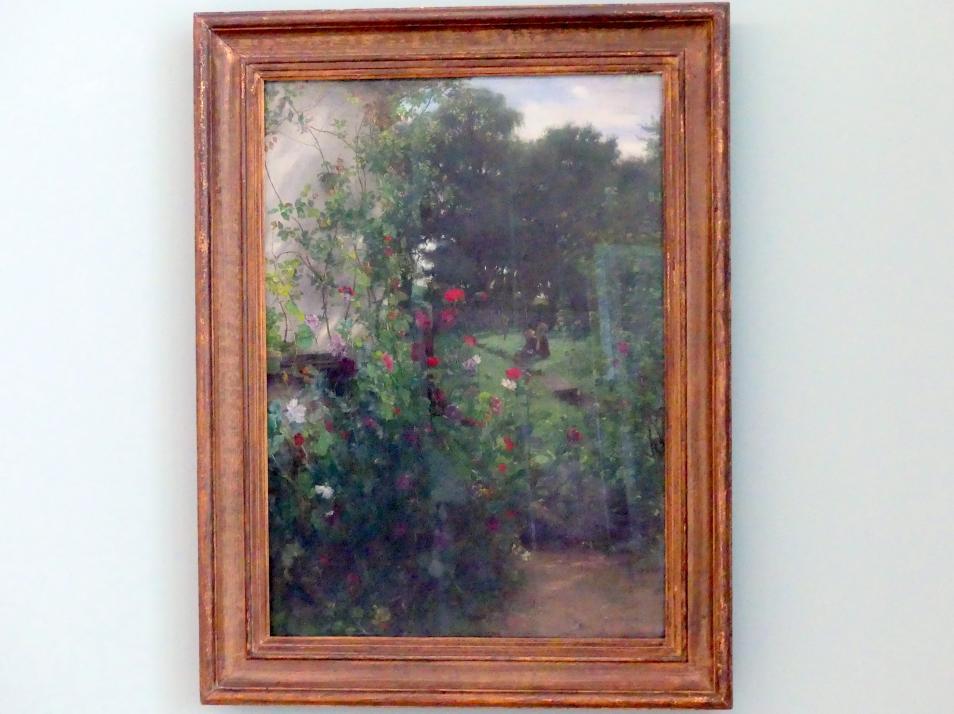 Johann Sperl: Wiese vor Leibls Atelier in Aibling, 1893