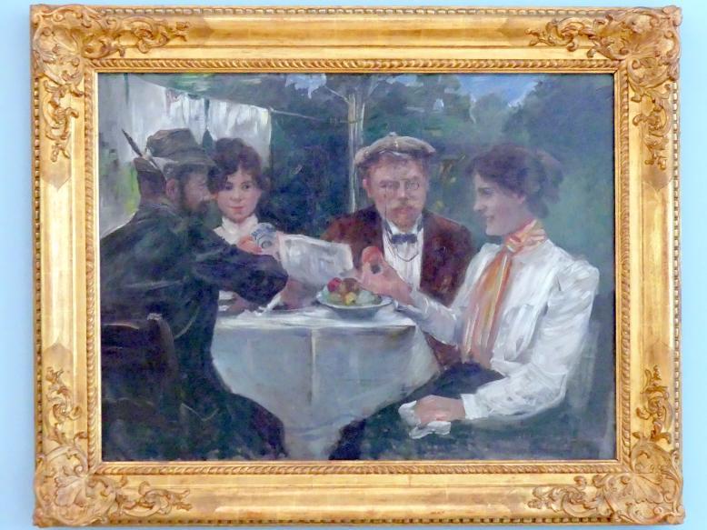Lovis Corinth: Frühstück in Max Halbes Garten, 1899