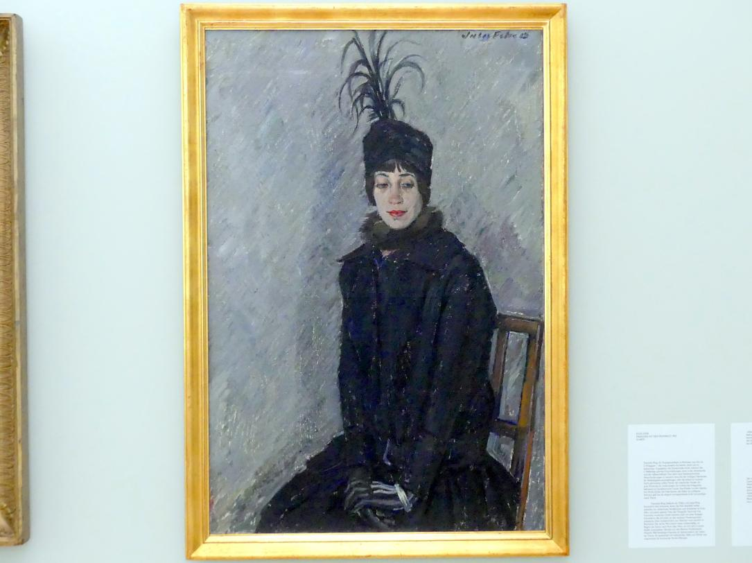 Jules Fehr: Franziska mit dem Reiterhut, 1915