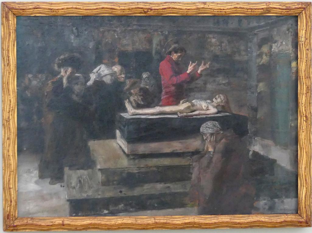 Albert von Keller: Studie zur Auferweckung Jairi Töchterlein, vor 1886