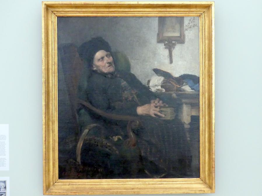 Ludwig von Löfftz: Alte Frau im Interieur, 1871