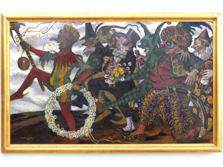 Carl Strathmann: Karnevalszug (Maskentreiben), 1913
