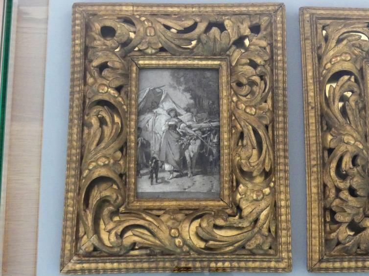 Arthur von Ramberg: Zwei Grisaillen zu Hermann und Dorothea, 1865