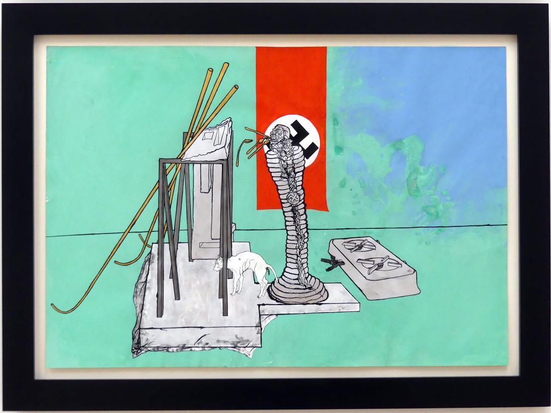 Bruno Gironcoli: Gasmann (bzw. Entwurf zur Veränderung von Säule mit Totenkopf), 1971