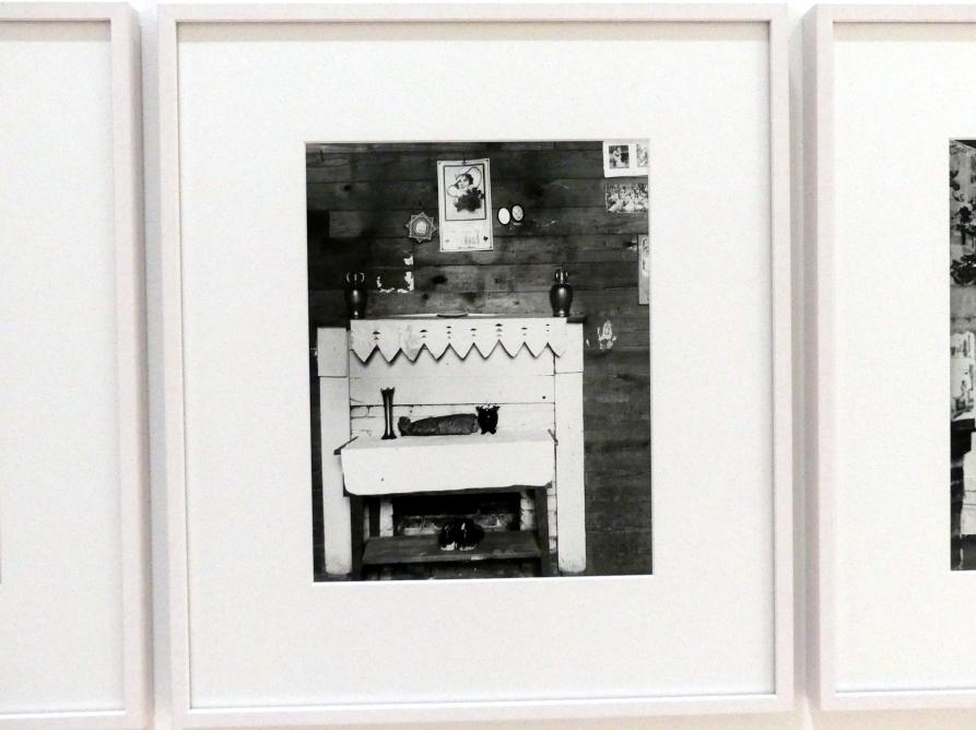 Walker Evans: Fireplace in Floyd Burroughs' front bedroom (Alabama), 1936