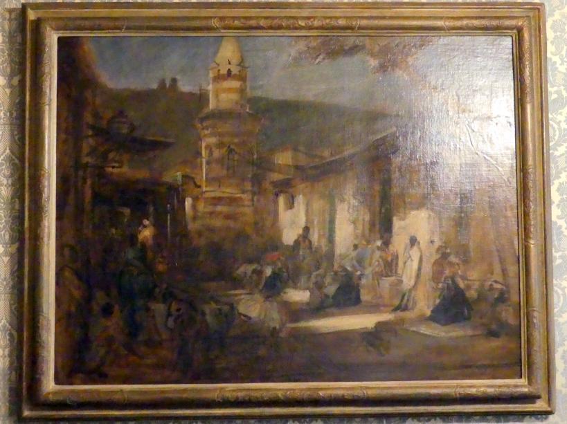 Franz von Lenbach: Straßenbild in Kairo, 1876