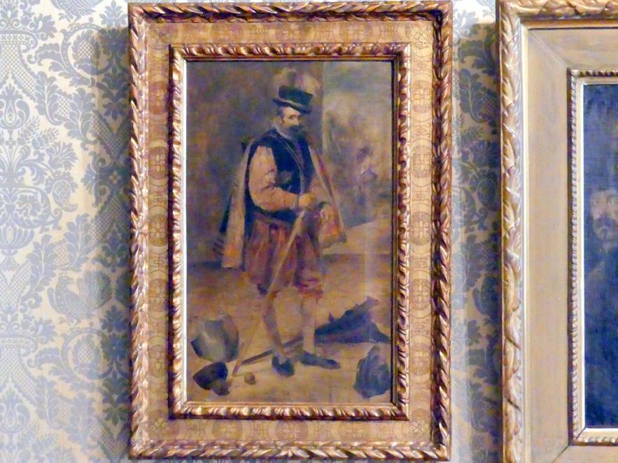 Franz von Lenbach: Hofnarr Philipps IV. von Spanien, 1868