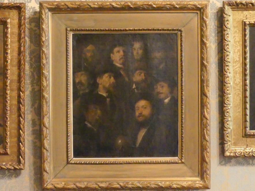 Franz von Lenbach: Kegelgesellschaft - Zehn Künstlerporträts, um 1869
