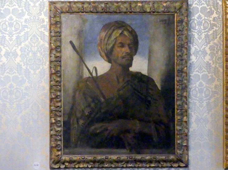 Franz von Lenbach: Bildnis eines Arabers in Beduinentracht, 1876