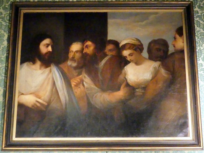 Franz von Lenbach: Die Ehebrecherin vor Christus, um 1870 - 1880