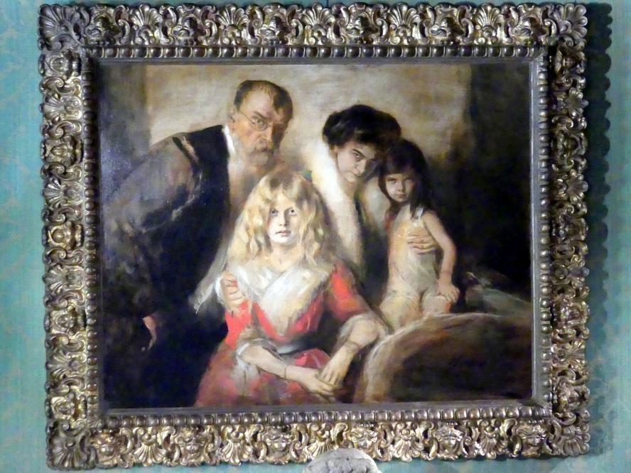 Franz von Lenbach: Franz von Lenbach mit Frau und Töchtern, 1902 - 1903