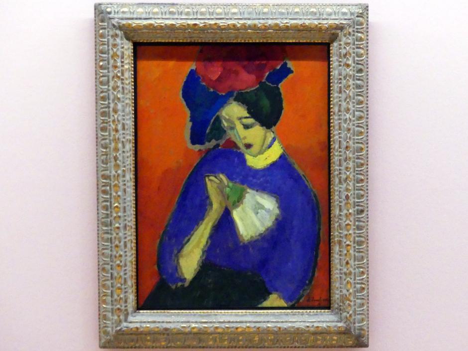 Alexej von Jawlensky: Dame mit Fächer, 1909
