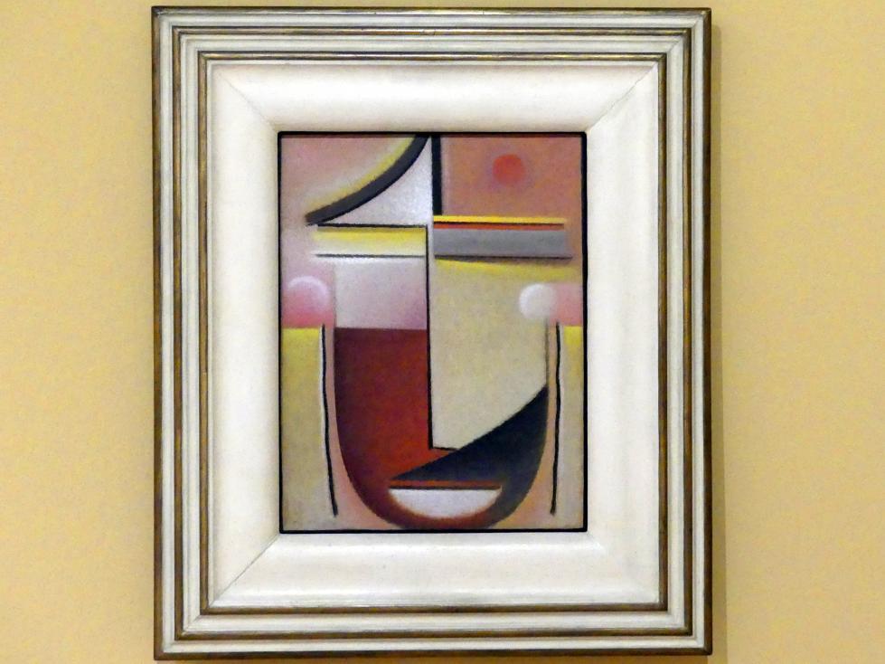 Alexej von Jawlensky: Abstrakter Kopf: Rot-Weiß-Gold, 1927
