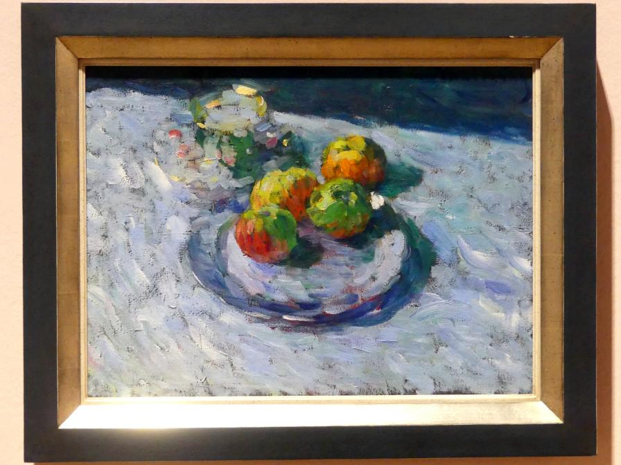 Alexej von Jawlensky: Stillleben mit antiker Tasse und Teller mit Äpfeln, 1901
