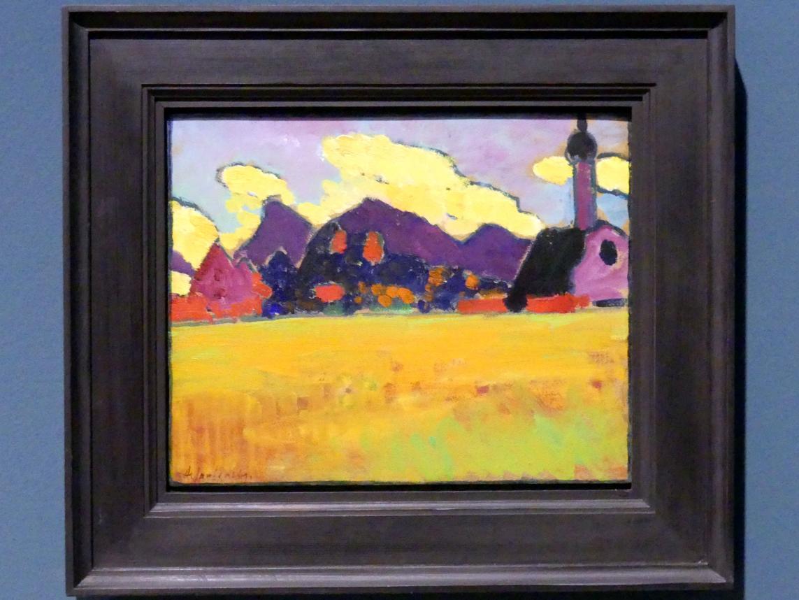 Alexej von Jawlensky: Landschaft bei Murnau (Gelbe Abendwolken), um 1910