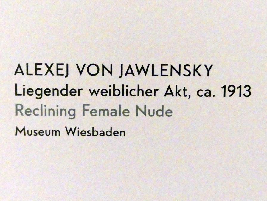 Alexej von Jawlensky: Liegender weiblicher Akt, um 1913, Bild 2/2