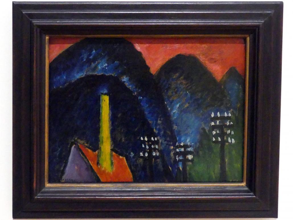 Alexej von Jawlensky: Blaue Berge (Landschaft mit gelbem Schornstein), 1912