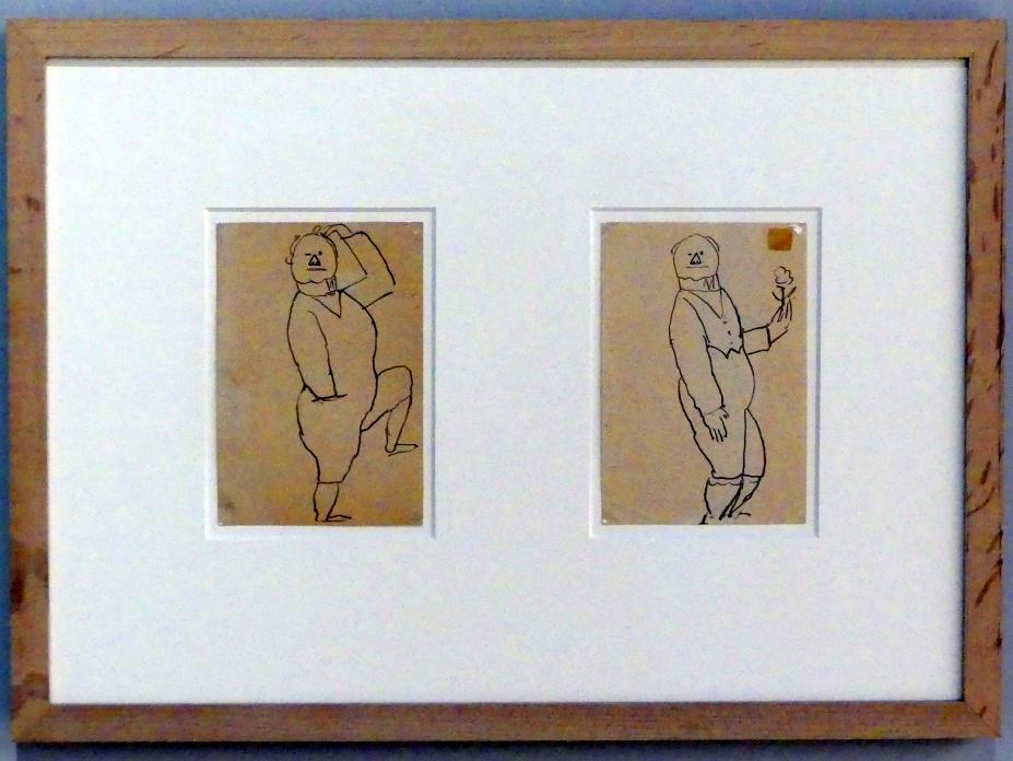 Alexej von Jawlensky: Selbstbildnis mit erhobenem Bein, um 1921