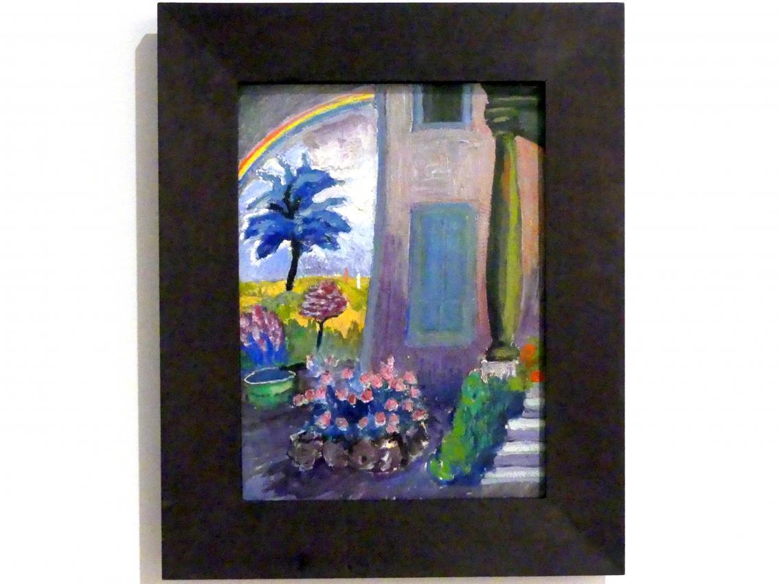 Marianne von Werefkin: Ohne Titel (St. Prex, Hauseingang, Garten mit Regenbogen), 1916