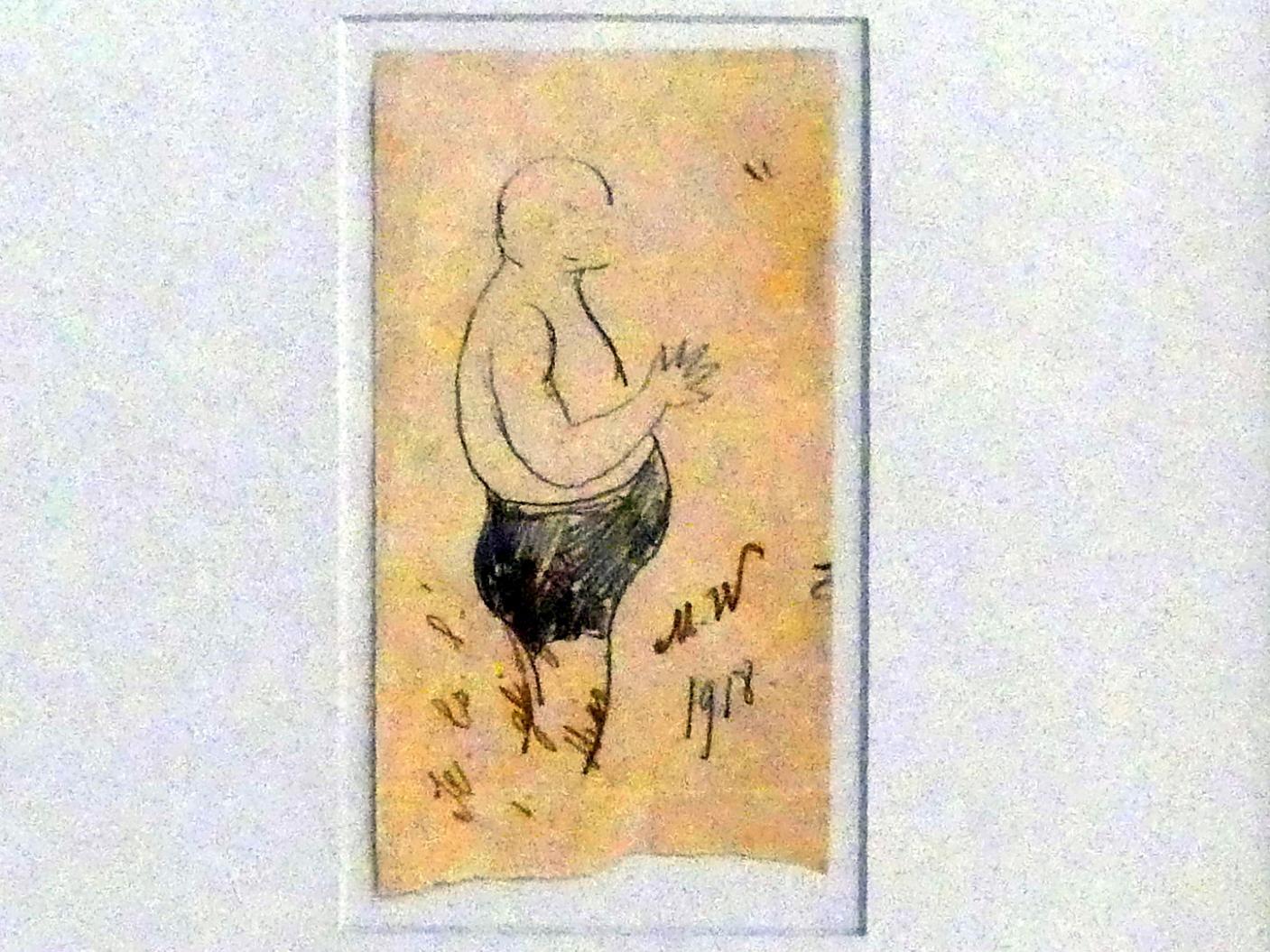 Marianne von Werefkin: Mann in Badehosen (Jawlensky), 1918