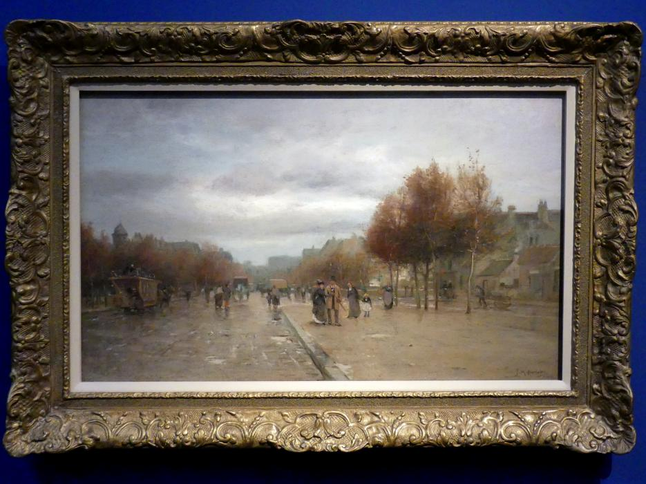 James Macdonald Barnsley: Straßenszene, Paris, um 1885