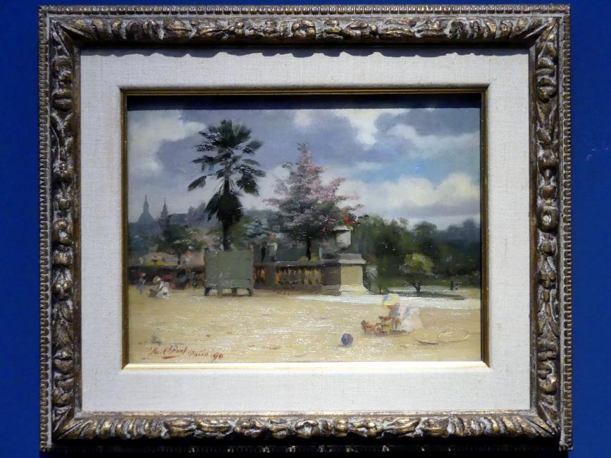 Paul Peel: Der Jardin du Luxembourg, Paris II, 1890
