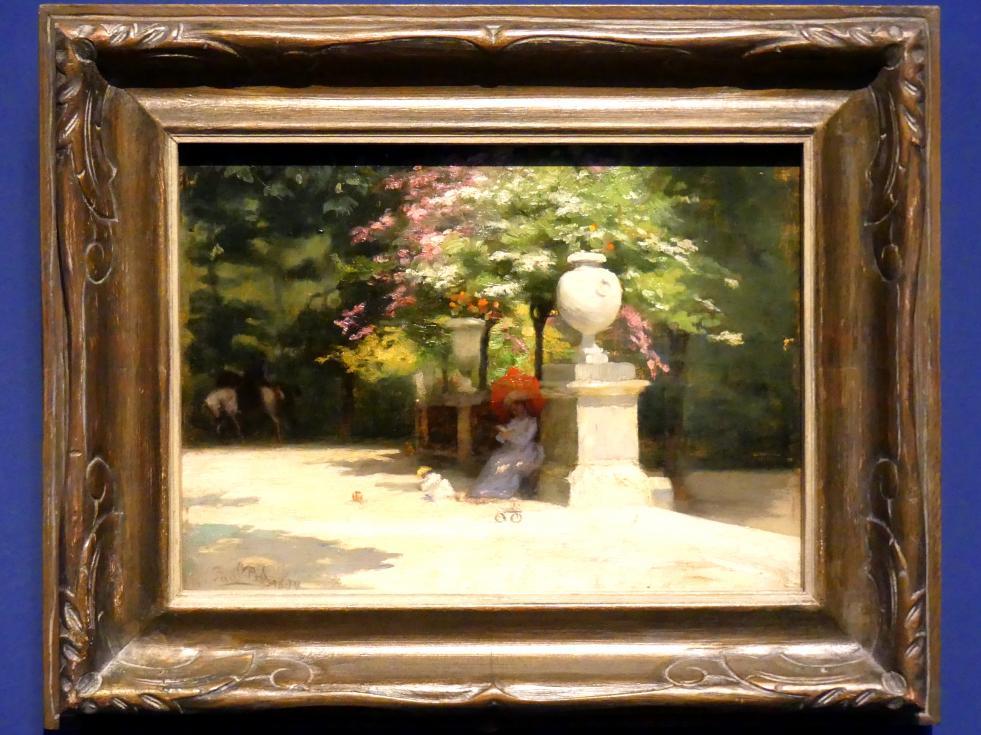 Paul Peel: Der Jardin du Luxembourg, Paris, 1890