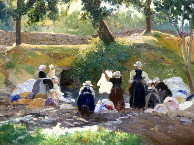 Maurice Galbraith Cullen: Bretonische Wäscherinnen, 1901, Bild 2/4