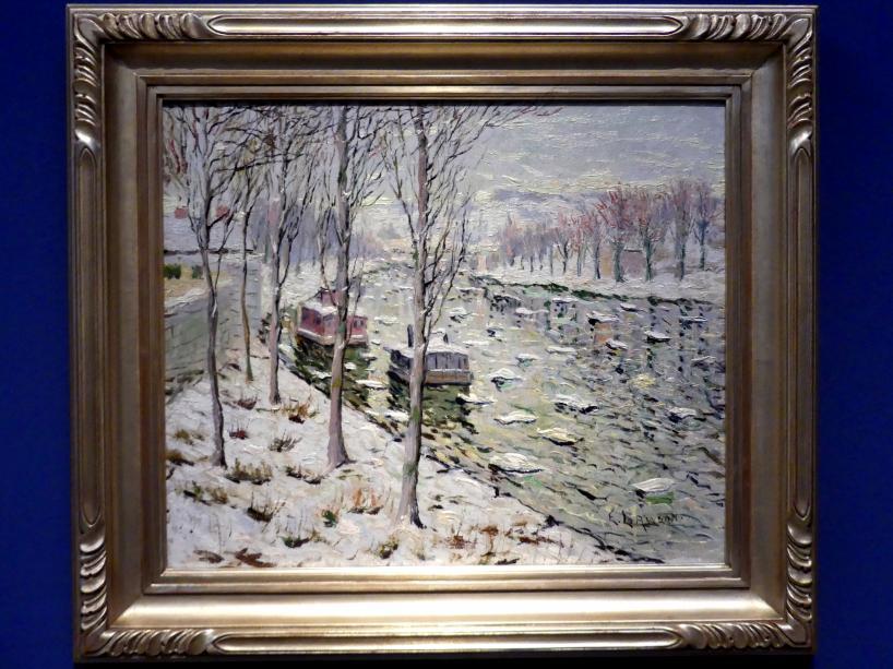 Ernest Lawson: Kanalszene im Winter, um 1894