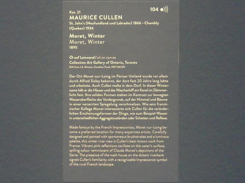 Maurice Galbraith Cullen: Moret, Winter, 1895, Bild 3/3