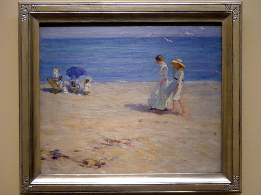 Helen McNicoll: Das blaue Meer (Am Strand von Saint-Malo), um 1914