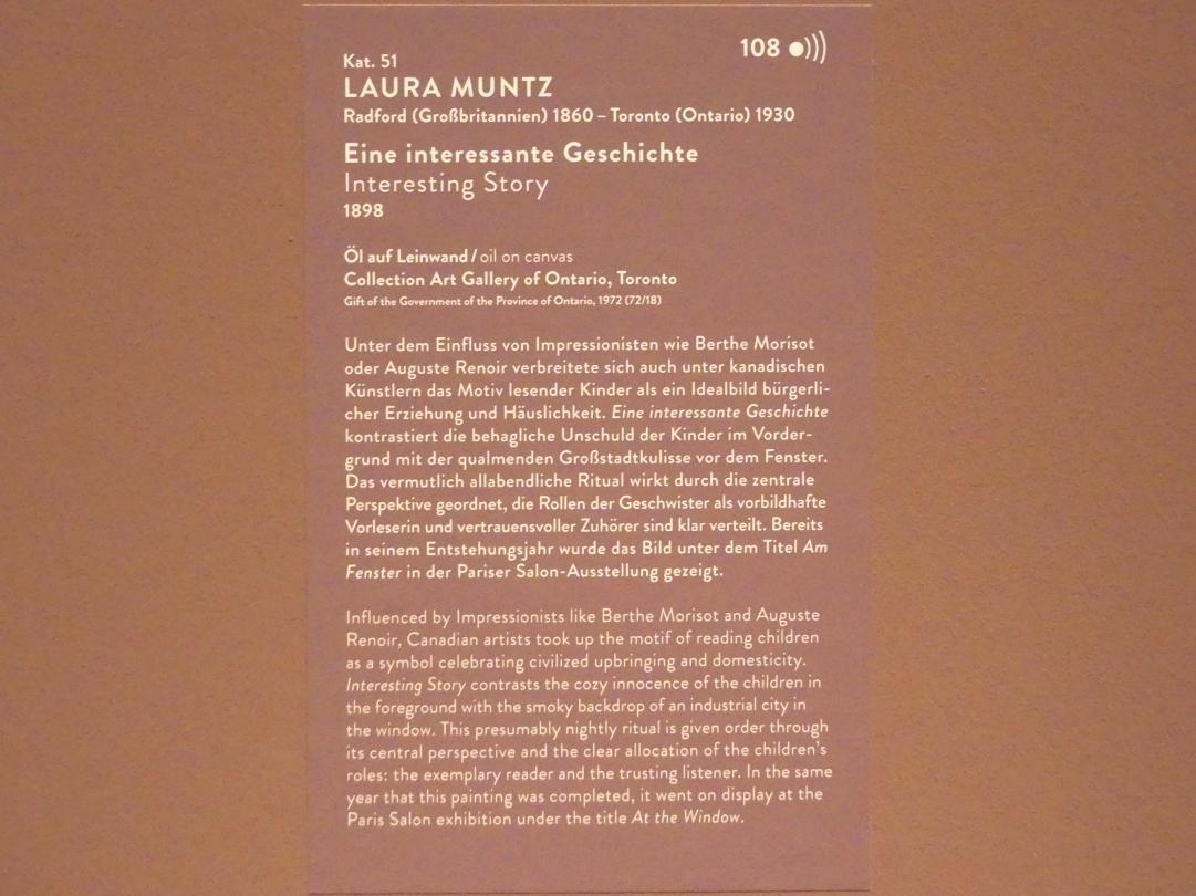 Laura Muntz Lyall (Laura Adeline Muntz): Eine interessante Geschichte, 1898, Bild 2/2