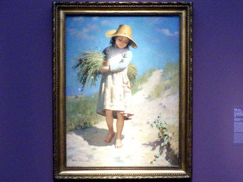 Paul Peel: Die junge Ährenleserin oder Die Schmetterlinge, 1888