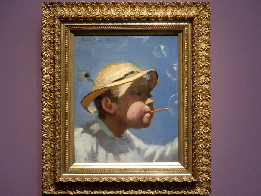 Paul Peel: Der Knabe mit den Seifenblasen, 1884