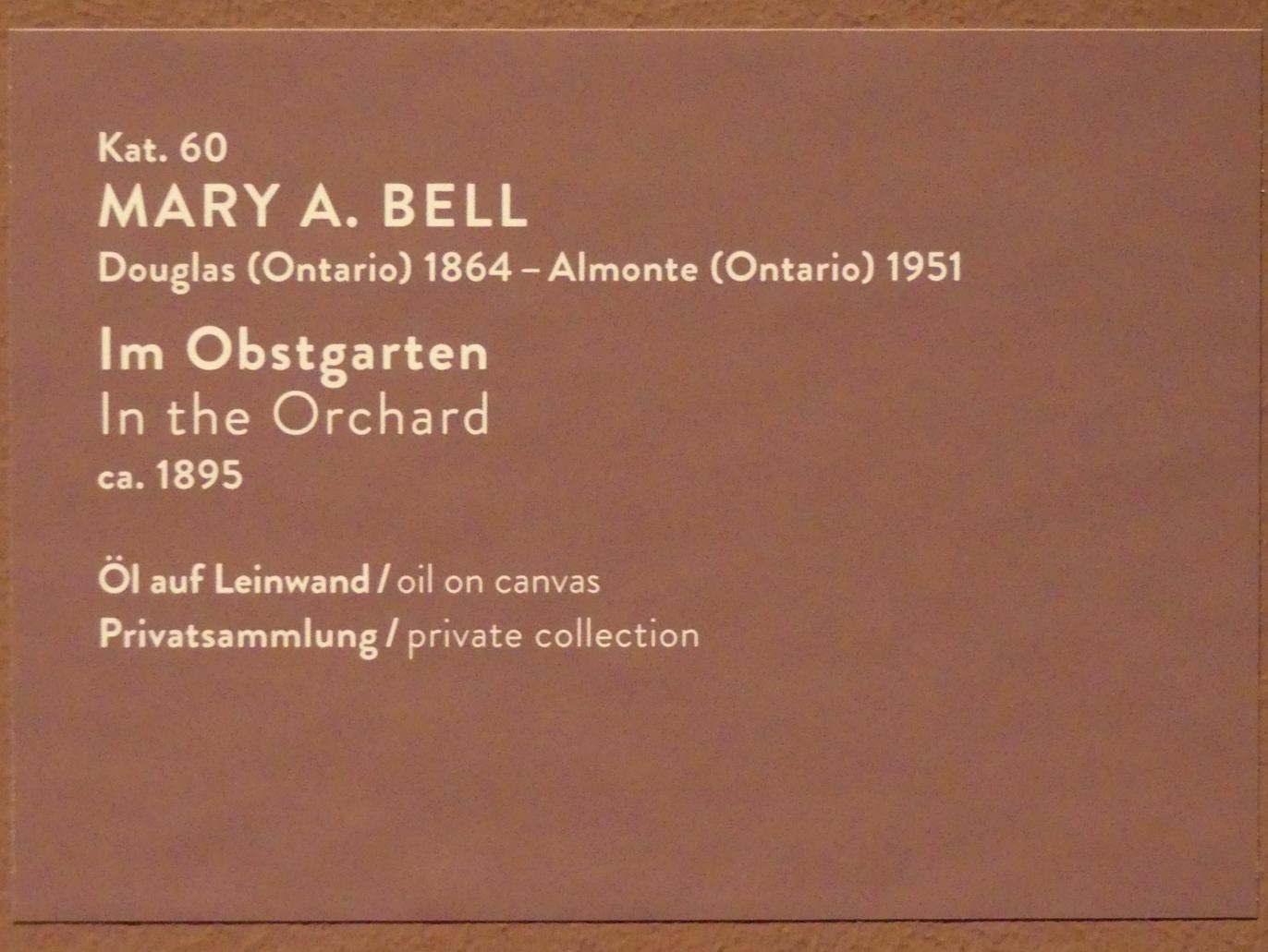 Mary Alexandra Bell (Mary Alexandra Bell Eastlake): Im Obstgarten, um 1895, Bild 2/2