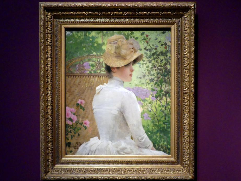 Paul Peel: Dame im Garten, 1889