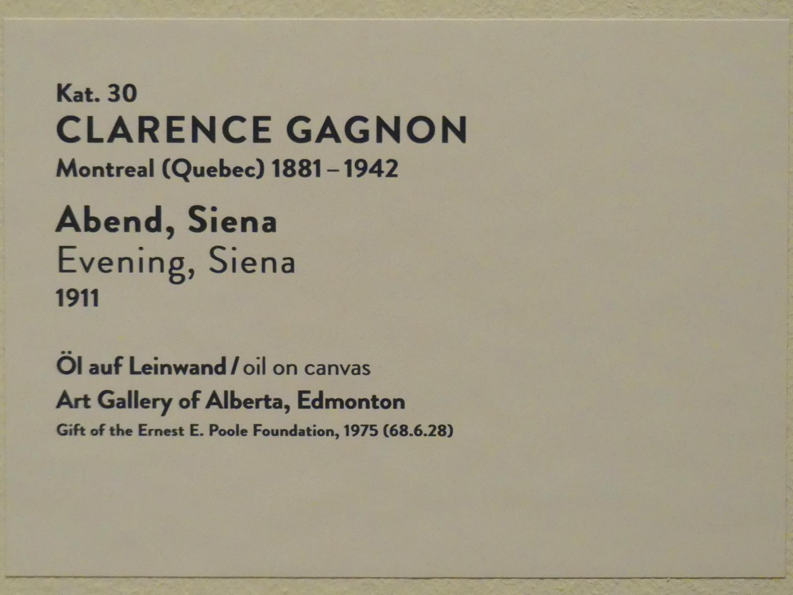Clarence Gagnon: Abend, Siena, 1911