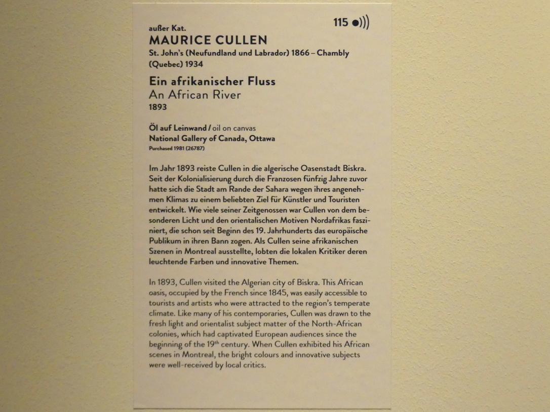 Maurice Galbraith Cullen: Ein afrikanischer Fluss, 1893, Bild 2/2