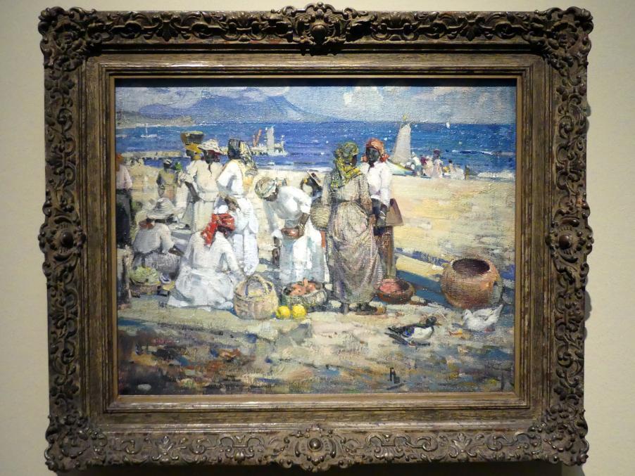 Franklin Brownell: Warten auf die Boote aus Nevis, 1916