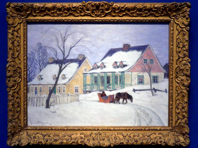 Clarence Gagnon: Alte Häuser, Baie-Saint-Paul, um 1912